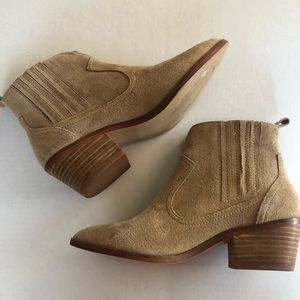 Steve Madden Light Brown Leather Booties Size 7